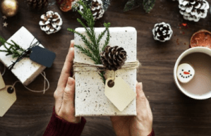 Christmas gift with message