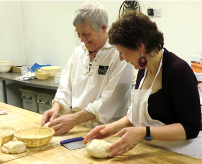 Shaping the bread