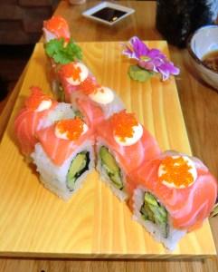 Grilled Teryaki Salmon Maki
