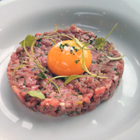 Look. Steak tartare at a Room in Leith is just so beautiful.