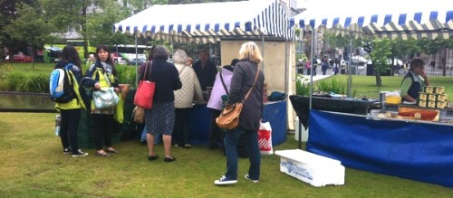 The Farmers' Market in St Andrew's Square