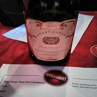 Wine #1: Grant Burge sparkling Pinot Noir Chardonay NV.