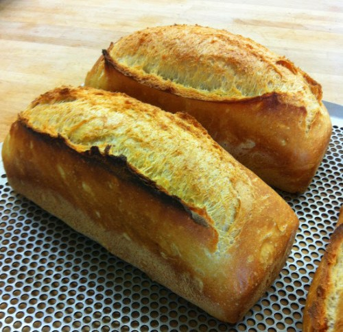 These may look familiar, but they're actually made with traditional recipe baguette dough - excellent with butter and Marmite!