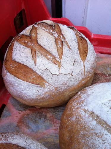 A large rye loaf.