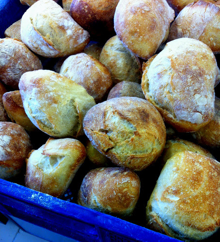 Rolls made with baguette dough