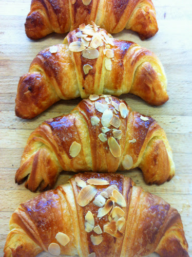 Almond croissants made the British way