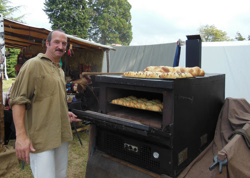 I thought this man's bread oven was rather wonderful. He made it himself and takes it to events on a trailer!