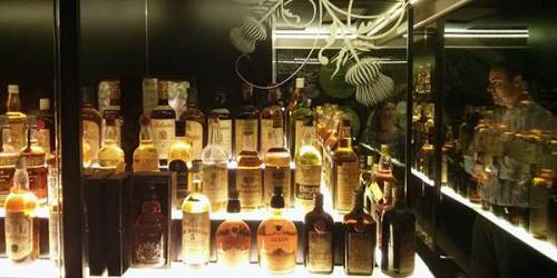 The impressive whisky exhibition: imagine collecting these bottles - and many more - in your own home.