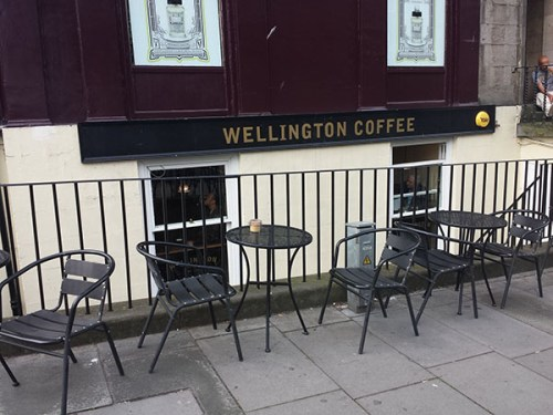 Wellington Coffee more than doubles its seats in summer.