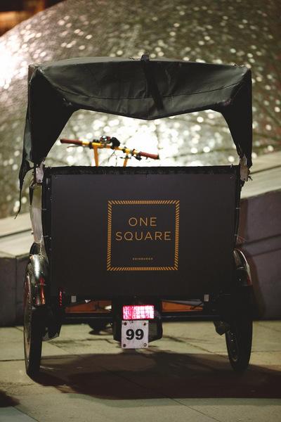 Your One Square rickshaw awaits ma'am