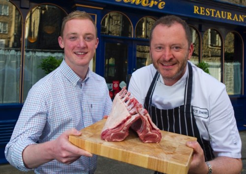 Douglas Stewart and Chef Neil Forbes at Cafe St Honore