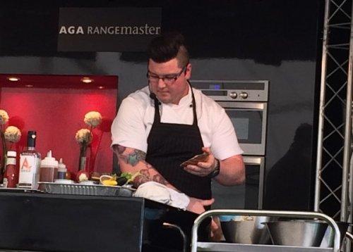 Jamie Scott cooks at Foodies Festival