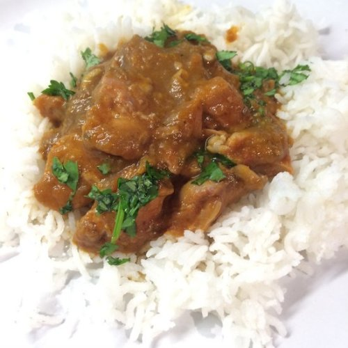 Lamb shank in the Kashmiri Sauce