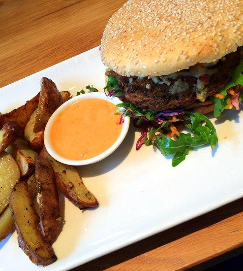 Loudon's Veggie Burger has Thai Flavours