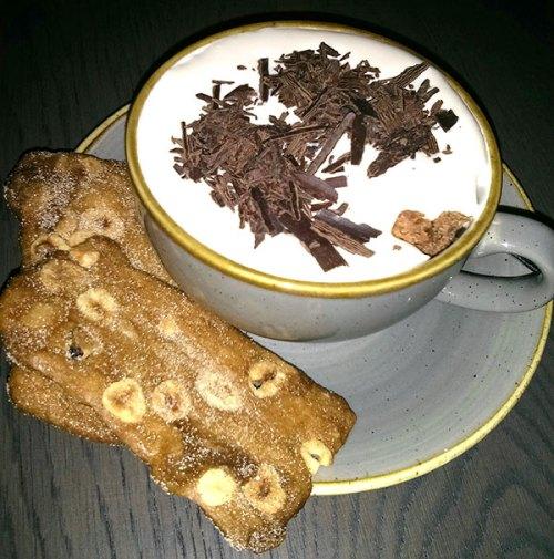 Chocolate and salted caramel mug. Delish!