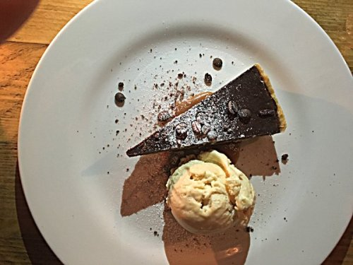 The espresso chocolate tart was a winner