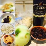 Boozy apple and sultana crumble with PX