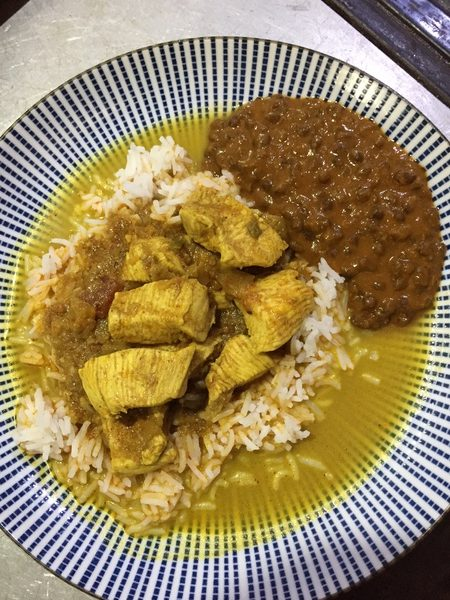Vinni & Bal's Shahi chicken curry & daal