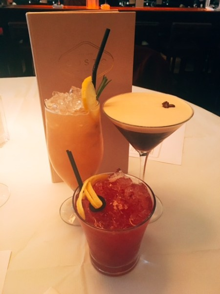 A trio of cocktails