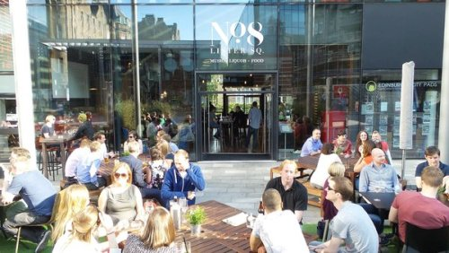 No 8 Lister Square - it's a great place to drink when the sun shines