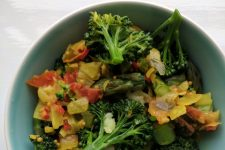 Coconut heavy with vegetables and rice. Making the everyday sing.