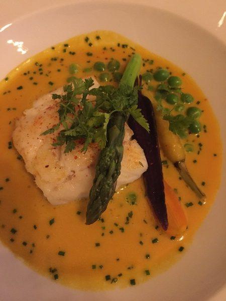 North Sea cod & saffron sauce
