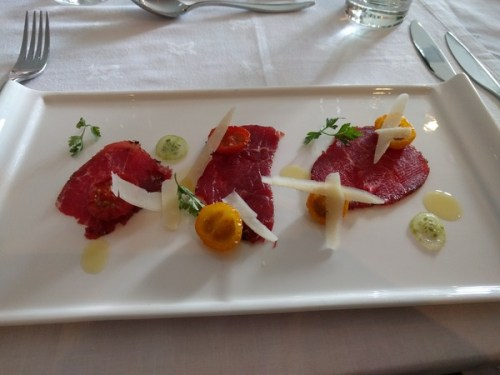 Beef carpaccio by Cater