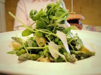 Asparagus and pea cob salad. Fresh and summery.