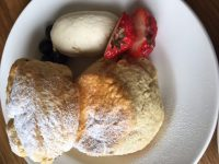 The perfect scone with Chantilly cream
