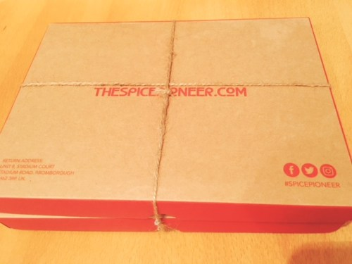 The Spice Pioneer boxes fit conveniently through the letter box
