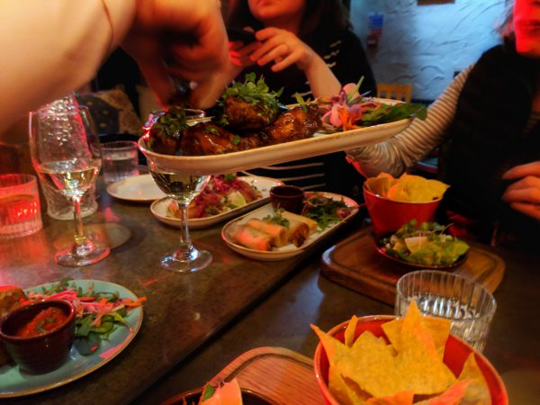 Like sharing? The Basement has great pick and mix small dishes that invite sharing.