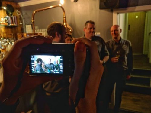 I enjoy taking photos of Gary taking photos. Meta joy! Here's Luke, Joanna, Stuart and David.