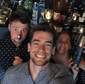Introducing the expert mixologists at the Voodoo Rooms, Steven, Liam and Rosie