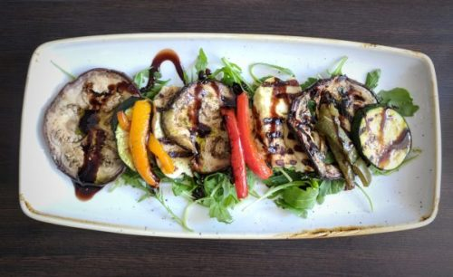 Roasted vegetable with halloumi - fresh and seasonal.