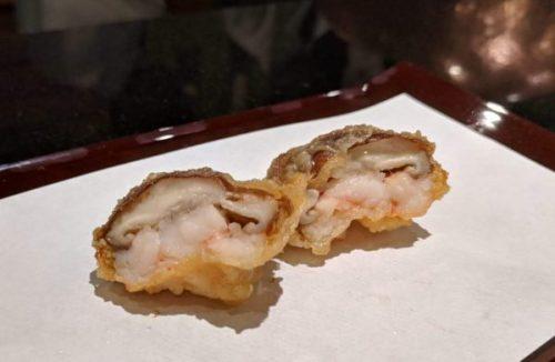 Mushroom stuffed with shrimp