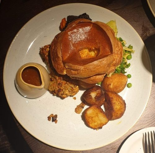 Nut roast at The Sheep Heid