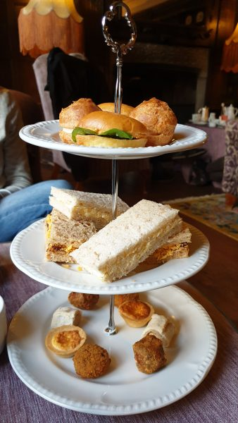 Afternoon tea: the savoury selection