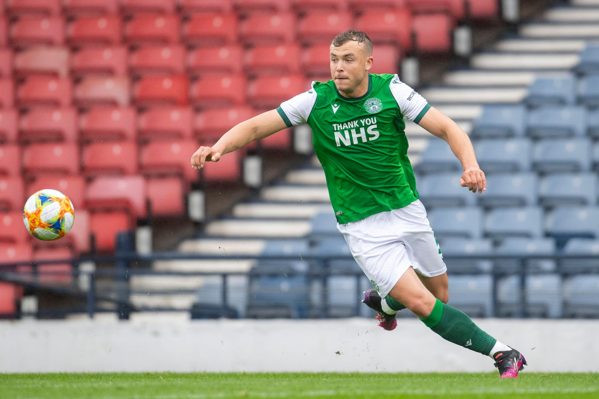 Hibs defenseman Ryan Porteous is expected to be the subject of transfer offers this summer.  Image: SNS