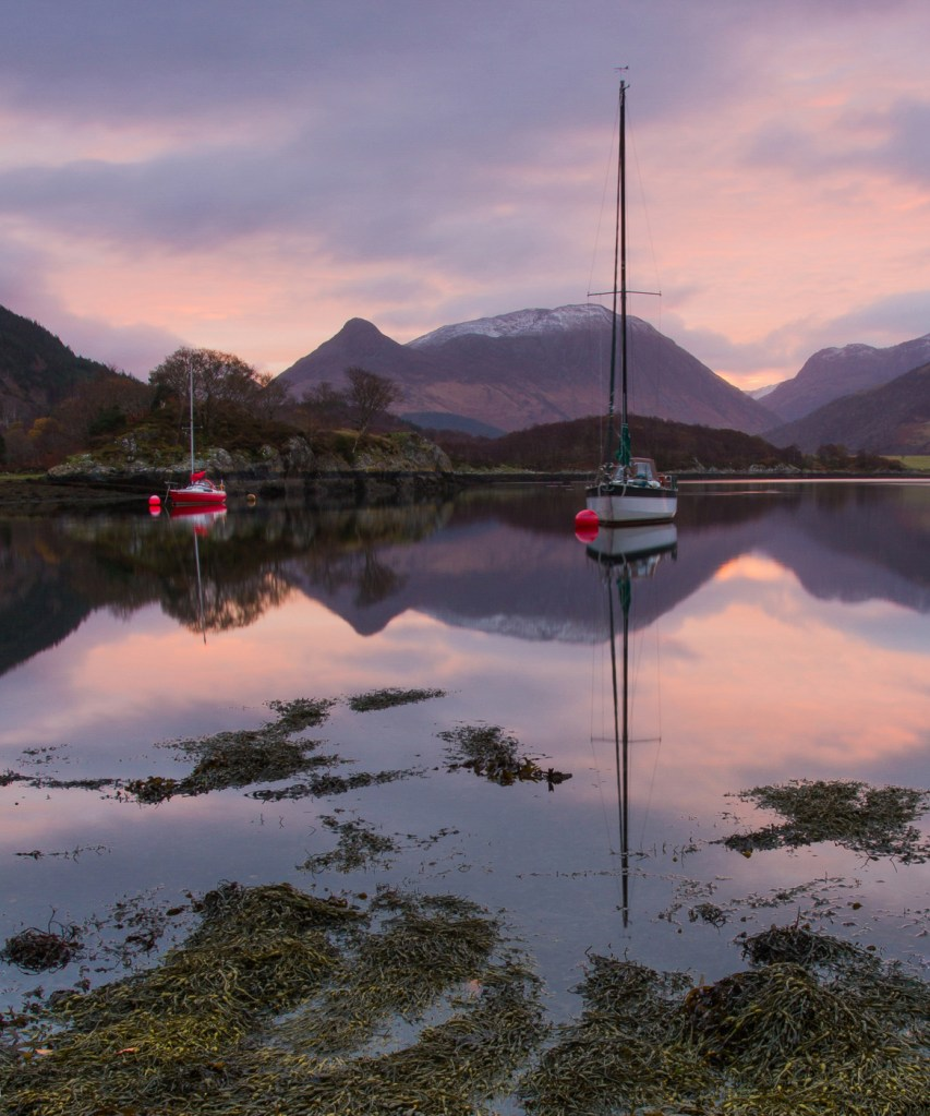 Moored up on Loch Leven by Neil Bain