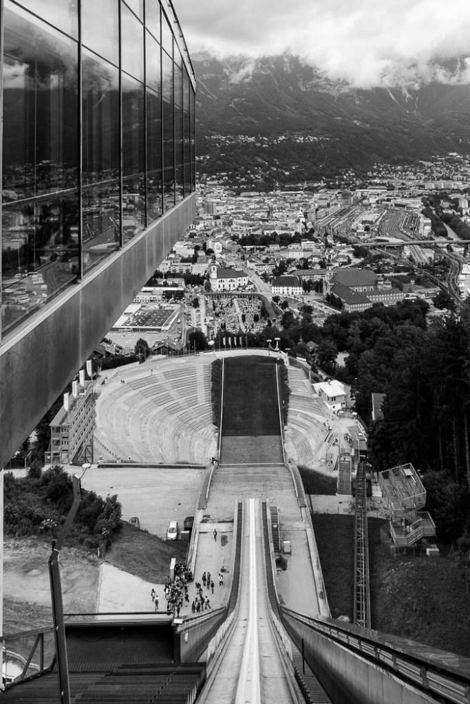 """Innsbruck ski jump"" by Chris Dow"