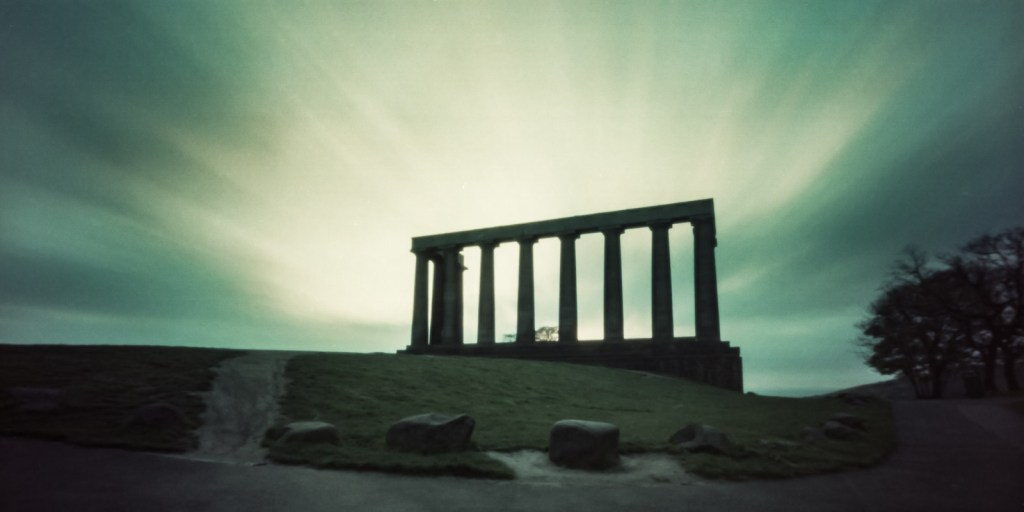 Chris Osborne - National Monument 3 (Analogue pinhole on long out-dated film)