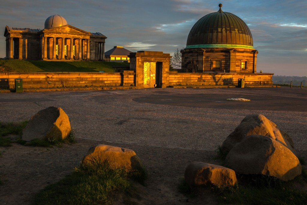 Graeme Gainey - First rays of sunshine on Calton Hill