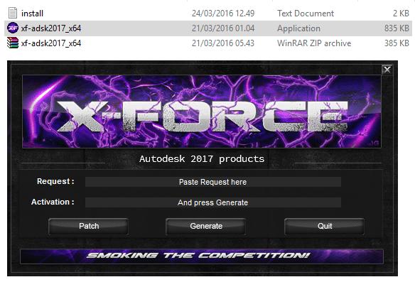 Autocad 2017-Crack-X-Force