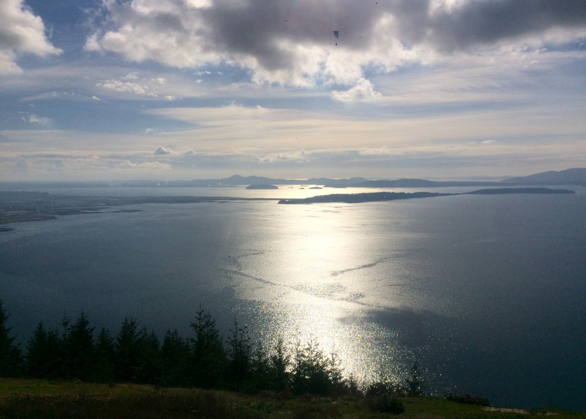The view of the Skagit Valley and San Juan Islands from Samish Overlook