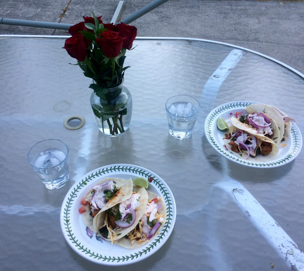 Roses and tacos to celebrate submitting my last National Boards portfolio