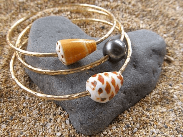Hana Maui Creations Pearl and Shell Bangles Maui Girl Jewelry Hawaiian Jewelry