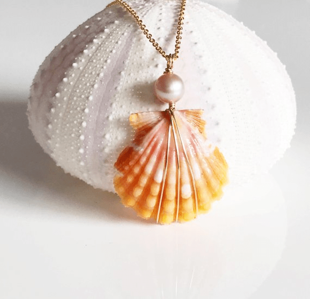 Maimoda Jewelry Sunrise Seashell Necklace Maui Girl Jewelry Hawaiian Jewelry