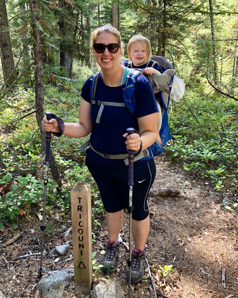 Backpacking with a toddler Osprey Poco Plus