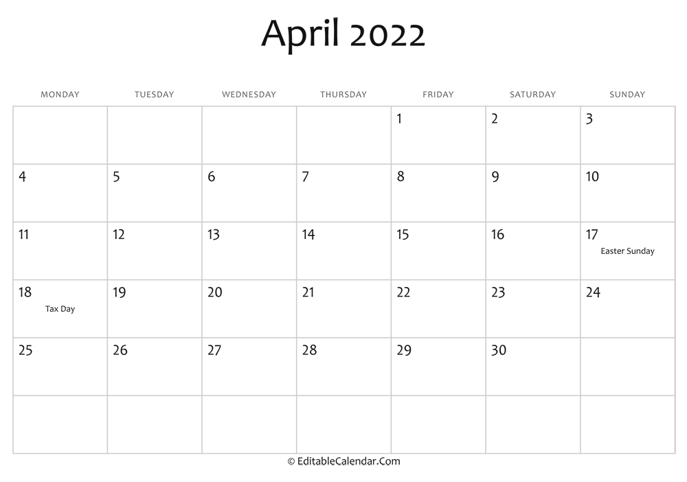 Prior month expectations as reported by reuters last week&aposs calendar this article was written by a staff member of thestreet.com. Editable Calendar April 2022
