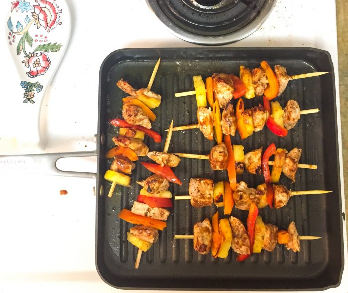 Barbecue Chicken and Pineapple Skewers